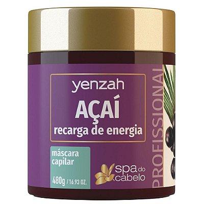 Yenzah SPA do Cabelo Máscara Açaí Recarga de Energia 480g