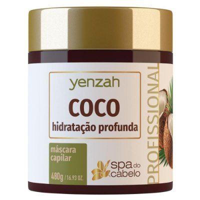 Yenzah SPA do Cabelo Máscara Coco Hidratação Profunda 480g