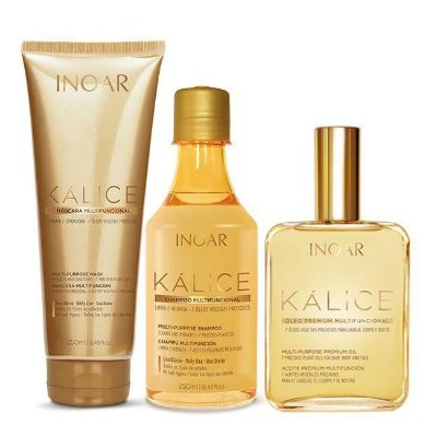 Inoar Kálice Kit Completo - Shampoo Máscara e Óleo