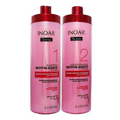 Inoar Oxyfree Kit Shampoo e Condicionador Revitalizante Quimicamente Tratados Litro
