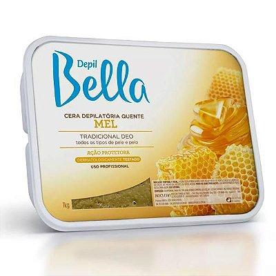 Cera Depilatória Quente Depil Bella em Barra Mel 1kg