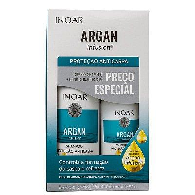Kit Inoar Argan Infusion Proteção Anticaspa Shampoo 500ml e Condicionador 250ml