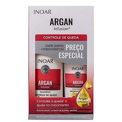 Kit Inoar Argan Infusion Controle de Queda Shampoo 500ml e Condicionador 250ml