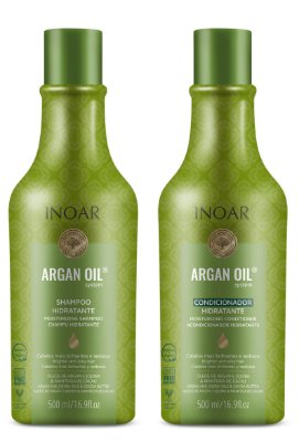 Kit Shampoo e Condicionador Inoar Argan Oil System 500ml