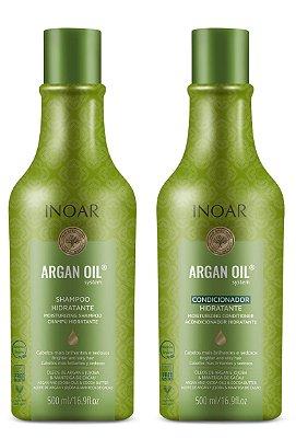 Kit Shampoo e Condicionador Inoar Argan Oil System 500ml