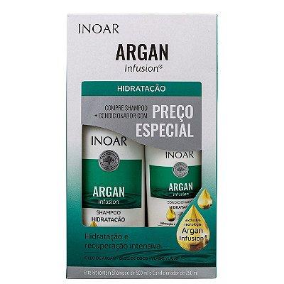 Kit Inoar Argan Infusion Hidratação Shampoo 500ml e Condicionador 250ml