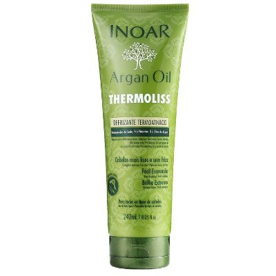 Inoar Argan Oil Thermoliss Defrizante Termoativado - Bálsamo Antifrizz 240ml