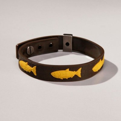 Pulseira For Fisher Emborrachada Dourado