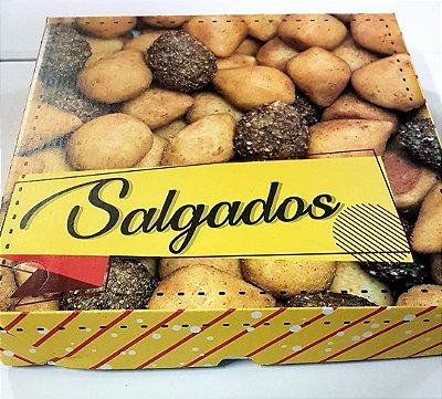 Caixa Papelao 30x30x05 Impresso Salgados c/25unids