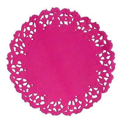 Toalha Rendada Papel Mago Pink (11 cm) 50 unids