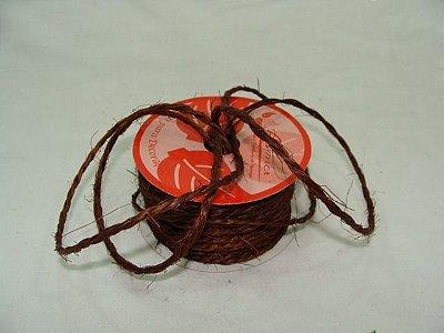 Fio Sisal Marrom Trançado (1515 cor 160) 4mmx10mts unid