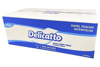Toalha Interfolha Branca Delicatto 100% Celulose 2d Folha Simples (20x20) 4800fls