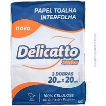 Toalha Interfolha Branca Delicatto 100% Celulose 2d Folha Simples Jr (20x20) 750fls