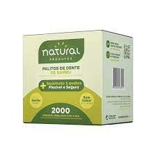 Palito Dental Bambu Embalado Natural 2000unids