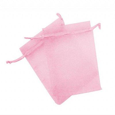 Saco organza 08x10 rosa bebe c/10 unids