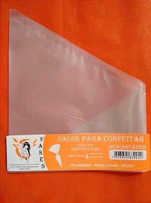 Saco confeitar Descartavel 40x23 c/5 unids