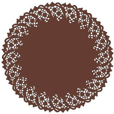 Toalha Rendada Papel Mago (Doilies) mod 300 (30 cm) Marrom 10 unids