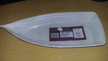 Barca Plastica (32) Branca Pequena unid (reutilizavel)