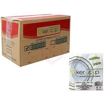 Prato Plastico 21cm Branco Kerocopo 250 unids