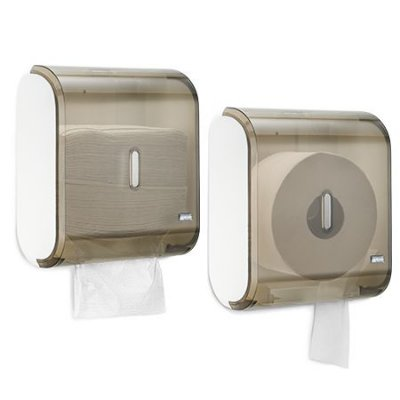 Dispenser Multiplo Toalheiro/Higienico Rolao Glass Fume unid