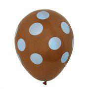 Balão nº11 Marrom/Azul 25 unids