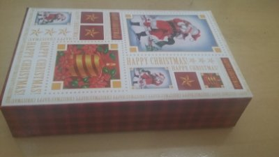 Cx Papelão Natal Estilo 35cmx5,5cmx24,5cm unid