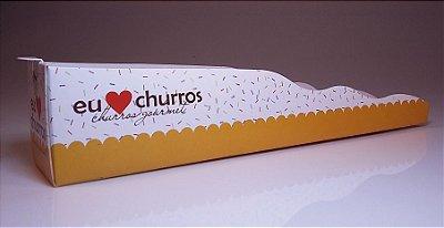Caixa p/ Churros (servir) (amarela) 20 unids (consultar disponibilidade na loja)