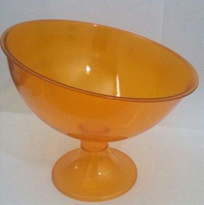Taça Acrilica Inclinada Grande Cristal Laranja unid (consultar disponibilidade antes da compra)