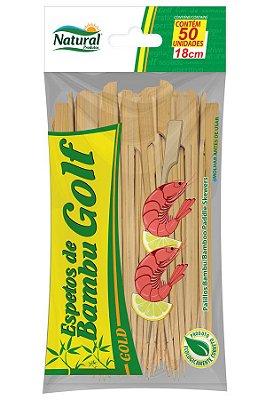 Espeto Golf 18cm Bambu 50 unids