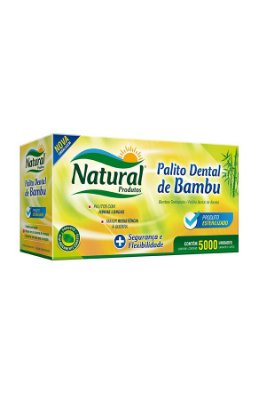 Palito Dental Bambu Natural 5000 unids