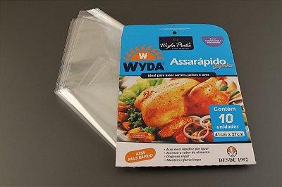 Saco Assarapido Cozinha 41x33cm c/presilhas 10 unids