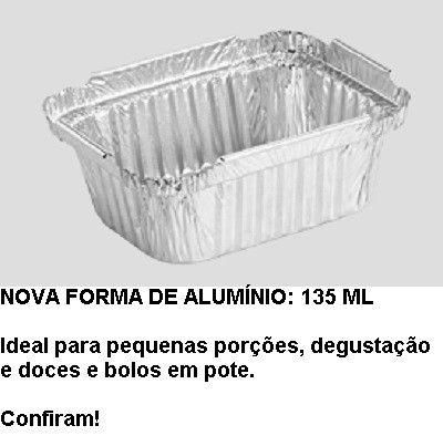 Marmitex aluminio 0135ml Wyda (DSm) c/100 unids