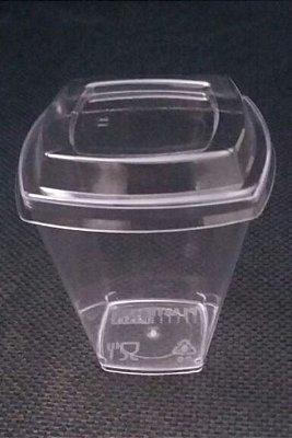 Copo Acrilico 50ml Cristal (Pic51) Square c/tampa Pet 64x10unids