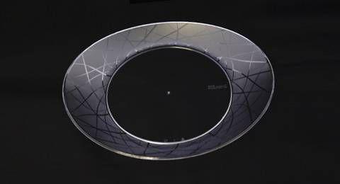 Prato Acrilico Oval Grande Cristal 10 unids