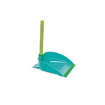 Pá lixo plastica cabo longo Jeitosa Verde Bettanin unid