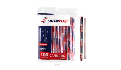 Canudo Super Milk Shake Strawplast 15x100 (10mm)