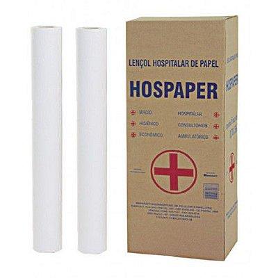 Lençol Hospitalar 50x50 Hospaper 02 rolos