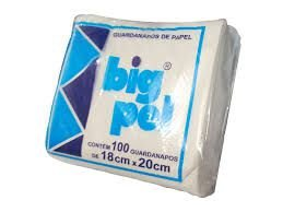 Guardanapo 18x20 Big Pel  Fl simples 50x100 unids