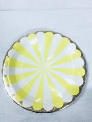 Prato Papel 18cm Circo Amarelo 10 unids