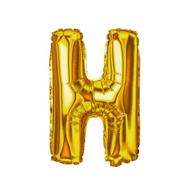 Balão Metalizado Letra H dourada unid