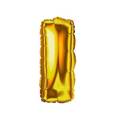 Balão Metalizado Letra I dourada unid