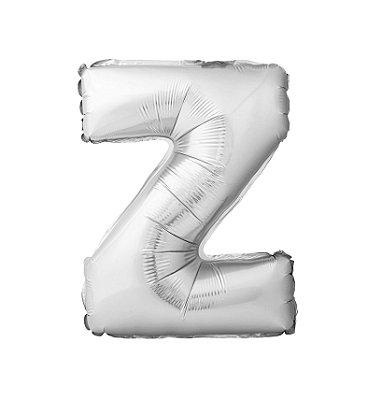 Balão Metalizado Letra Z prata unid