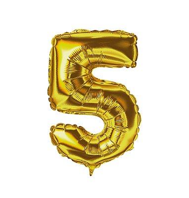 Balão Metalizado nº5 Dourado 1metro unid