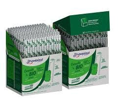 Canudo Biodegradavel Garrafa 24cmx5mm Embalado BOX 500 unids