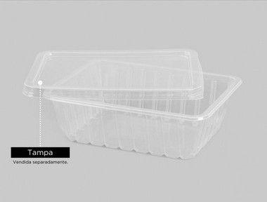 Marmita Fitness 500ml Copaza 50 tampas + 50 bases freezer e micro