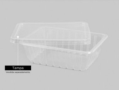 Marmita Fitness 750ml Copaza 25unids tampas + 25 unids bases freezer e micro
