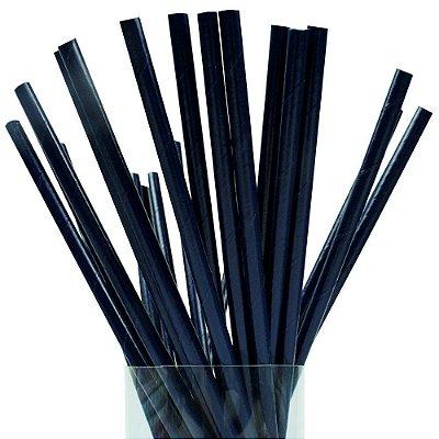 Canudo Papel 19cmx5mm Azul Escuro 20 unids
