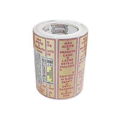 Etiqueta Lacre - Nao aceite 3mmx100mm 500 unids