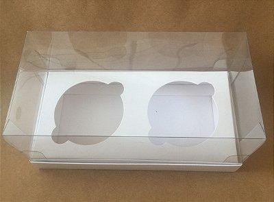 Caixa para Cup Cakes Dupla c/ Visor Branca c/10 unids