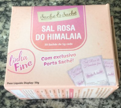 Sal Sachê Rosa do Himalaia 50 saches